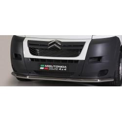 LARGE BAR AVANT INOX 63 CITROEN JUMPER 2006- accessoires 4x4 MISUTONIDA