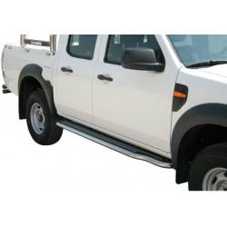 Marche pieds INOX 50 FORD RANGER 2009- - accessoires 4X4 MISUTONIDA