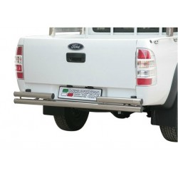 PARE CHOC ARRIERE DOUBLE TUBES INOX 63 FORD RANGER 2009- - accessoires 4X4 MISUTONIDA