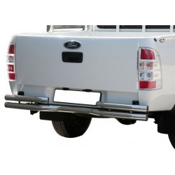 PARE CHOC ARRIERE INOX FORD RANGER 2009- - accessoires 4X4 MISUTONIDA