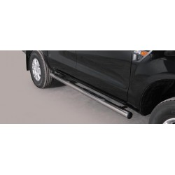 TUBES MARCHE PIEDS INOX 76 FORD RANGER 2012- accessoires 4X4 MISUTONIDA