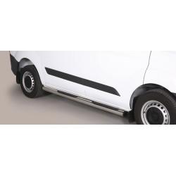 TUBES MARCHE PIEDS INOX 76 FORD TRANSIT CUSTOM VERSION COURTE 2013- (L1) - accessoires 4x4 MISUTONIDA
