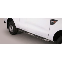 TUBES MARCHE PIEDS OVALE INOX 76 FORD RANGER 2012- SUPER CABINE - accessoires 4x4