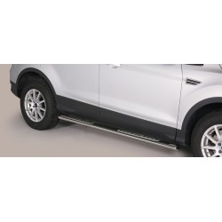 TUBES MARCHE PIEDS OVALE INOX DESIGN FORD KUGA 2013- CE accessoires 4x4 MISUTONIDA
