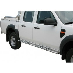 TUBES MARCHE PIEDS OVALE INOX DESIGN FORD RANGER 2009- - accessoires 4X4 MISUTONIDA