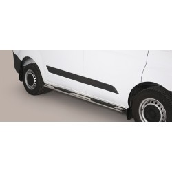 TUBES MARCHE PIEDS OVALE INOX FORD TRANSIT CUSTOM VERSION COURTE (L1) 2013- accessoires 4x4 MISUTONIDA