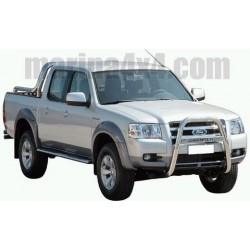 TUBES MARCHE PIEDS OVALE INOX Ø 76 FORD RANGER 2007- DOUBLE CAB accessoire 4X4 MARINA