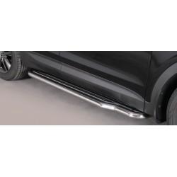 Marche pieds INOX 50 RANGE HYUNDAI SANTA 2012- accessoires 4x4