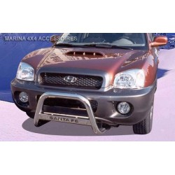 MEDIUM BAR INOX 63.5 HYUNDAI SANTA FE 2000- 2005 - accessoires 4X4 MISUTONIDA