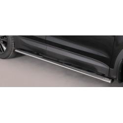 TUBES MARCHE PIEDS OVALE INOX HYUNDAI SANTA 2012- accessoires 4x4