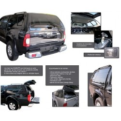 HARD TOP ACIER ISUZU XTRA DOUBLE CABINE 2012- GRIS TITANIUM 529 - accessoires 4X4 MISUTONIDA