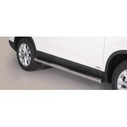 TUBES MARCHE PIEDS INOX 76 KIA SORENTO 2012- accessoires 4x4 MISUTONIDA
