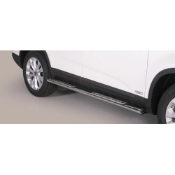 TUBES MARCHE PIEDS OVALE INOX DESIGN KIA SORENTO 2012- accessoires 4x4 MISUTONIDA