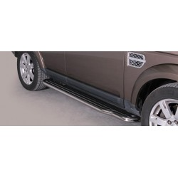 Marche pieds INOX 50 LAND ROVER DISCOVERY 4 2012- accessoires 4X4 MISUTONIDA