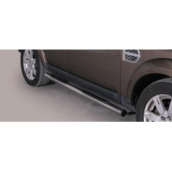 TUBES MARCHE PIEDS INOX 76 LAND ROVER DISCOVERY 4 2012- CE accessoires 4X4 MISUTONIDA