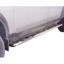 TUBES MARCHE PIEDS OVALE INOX Ø 76 LANDROVER DSICOVERY 3 2005- accessoires 4X4 MISUTONIDA