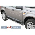 TUBES MARCHE PIEDS OVALE INOX Ø 76 LANDROVER FREELANDER 2 2008- accessoire 4X4 MARINA