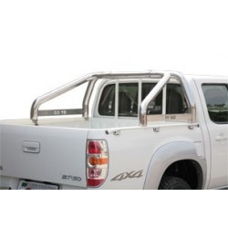 ROLL BAR INOX DOUBLE TUBE Ø 76 MAZDA BT50 2009- AVEC MARQUAGE