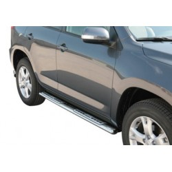 TUBES MARCHE PIEDS OVALE INOX DESIGN MAZDA BT50 DOUBLE CAB 2007/2009 accessoire 4X4 MARINA