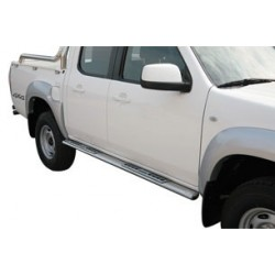 TUBES MARCHE PIEDS OVALE INOX DESIGN MAZDA BT50 DOUBLE CAB 2009- accessoire 4X4 MARINA