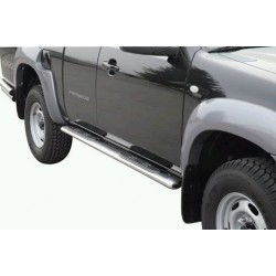 TUBES MARCHE PIEDS OVALE INOX Ø 76 MAZDA BT50 2007- DOUBLE CAB accessoire 4X4 MARINA