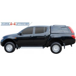 HARD TOP ACIER MITSU L200 DBL CAB 2006- BENNE COURTE BLANC (W32)