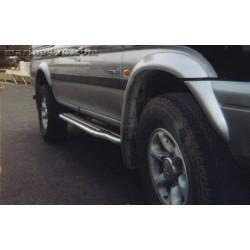 Marche pieds INOX Ø50 MITSUBISHI PAJERO SPORT -1999 accessoire 4X4 MARINA