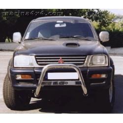 MEDIUM BAR INOX 63.5 MITSUBISHI L200 2002- 2006 ( 115ch 130ch) - accessoires 4X4