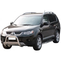 MEDIUM BAR INOX 63.5 MITSUBISHI OUTLANDER 2007- - accessoires 4X4 MISUTONIDA