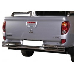 PARE CHOC ARRIERE DOUBLE TUBES INOX Ø 63 MITSUBISHI L200 2010- DB CAB