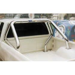 ROLL BAR INOX DOUBLE TUBES Ø 76 MITSUBISHI L200 DOUBLE CAB 1997- 2006
