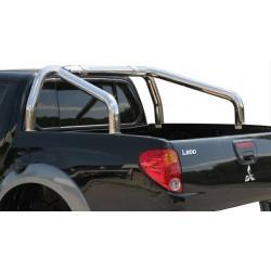 ROLL BAR INOX TRI TUBE 76 MITSUBISHI L200 2006- DOUBLE CAB (bord benne)