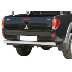 TUBE PROTECTION INOX ARRIERE OVALE MITSUBISHI L200 2006- - accessoires 4x4