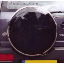 Couvre roue inox 235/70R16 fermeture à clé NISSAN TERRANO accessoires 4X4 MISUTONIDA