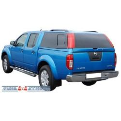 HARD TOP ACIER NISSAN NAVARA D40 2005- NOIR (GNO) DOUBLE CAB VITRE AV NON COULISSANTE - accessoires 4X4 marin
