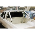 ROLL BAR INOX DOUBLE TUBES Ø 76 NISSAN KING CAB 1998- 2005 SIMPLE CAB