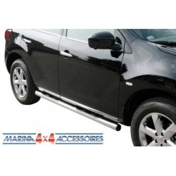 TUBES MARCHE PIEDS INOX Ø 76 NISSAN MURANO 2008- - accessoires 4X4 MISUTONIDA