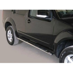TUBES MARCHE PIEDS OVALE INOX 76 NISSAN PATHFINDER 2011- - accessoires 4X4 MISUTONIDA