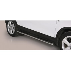 TUBES MARCHE PIEDS OVALE INOX OPEL MOKKA 2012- accessoires 4x4 MISUTONIDA