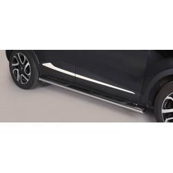 TUBES MARCHE PIEDS OVALE INOX RENAULT CAPTUR 2013- - accessoires 4X4 MISUTONIDA