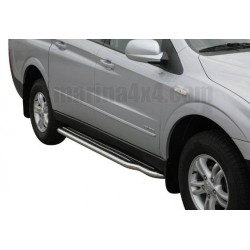 Marche pieds INOX Ø50 SSANGYONG ACTYON SPORTS 2007- - accessoires 4X4 MISUTONIDA