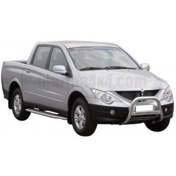 MEDIUM BAR INOX 63.5 SSANGYONG ACTYON SPORTS 2007- - accessoires 4X4 MISUTONIDA