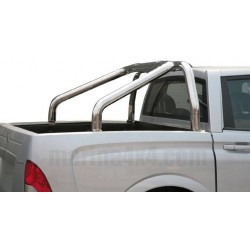 ROLL BAR INOX DOUBLE TUBE Ø 76 SSANGYONG ACTYON SPORTS (bord benne) 2007-