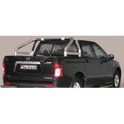 ROLL BAR INOX DOUBLES TUBES 76 SSANGYONG ACTYON SPORTS 2012- - AVEC MARQUAGE accessoires 4X4 MISUTONIDA