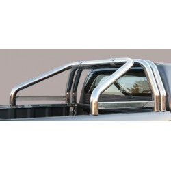 ROLL BAR INOX TRIPLE TUBES 76 SSANGYONG ACTYON SPORTS 2012- - AVEC MARQUAGE accessoires 4X4 MISUTONIDA