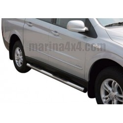 TUBES MARCHE PIEDS INOX Ø 76 SSANGYONG ACTYON SPORTS 2007-