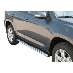 TUBES MARCHE PIEDS OVALE INOX DESIGN SSANGYONG ACTYON 2006- accessoir 4X4 MARINA