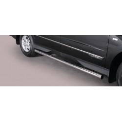 TUBES MARCHE PIEDS OVALE INOX DESIGN SSANGYONG ACTYON SPORTS 2012- - accessoires 4X4 MISUTONIDA