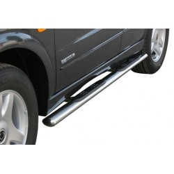 TUBES MARCHE PIEDS OVALE INOX Ø 76 SSANGYONG KYRON - accessoires 4X4 MISUTONIDA