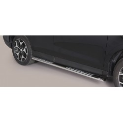 TUBES MARCHE PIEDS OVALE INOX DESIGN SUBARU FORESTER 2013- accessoires 4x4 MISUTONIDA